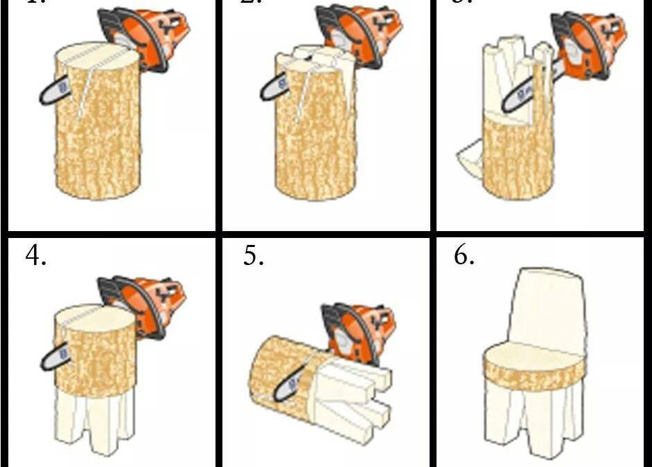 Make A Log Chair