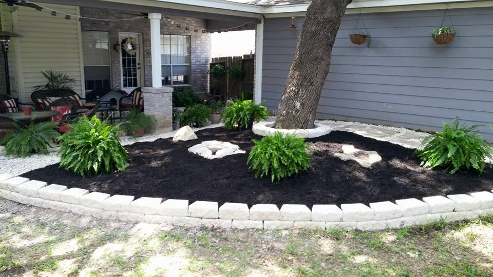 Landscaping In Back Yard For A San Antonio Home Owner ...